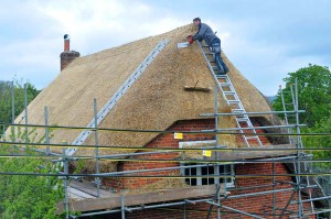 Dressing up the roof ready for netting