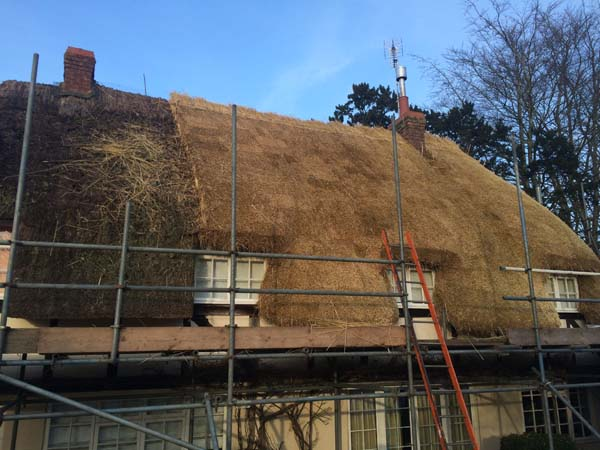 005 Total rethatch - Over Wallop - In Progress (3)